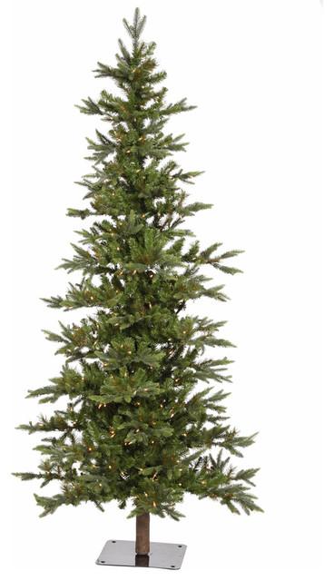 Shawnee Fir Alpine Tree, 7', Warm White LED Lights