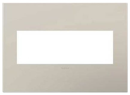 Legrand Adorne Greige 3 Gang Wall Plate Contemporary Switch