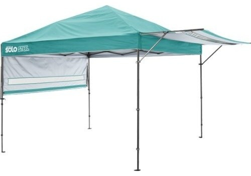 Shelter Logic Solo170 Quik Straight Leg Canopy, Turquoise, 10&x27;x17&x27;.