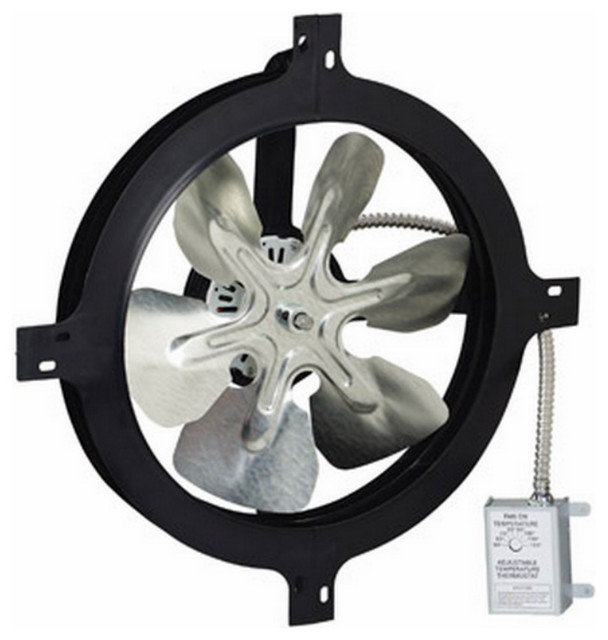 Air Vent Gable Mount Power Fan, 14.
