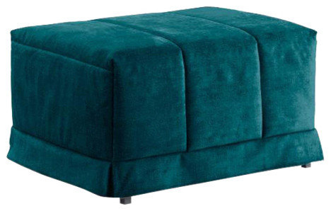 Krakow Pouffe Fold-Out Bed, Blue, 48x83 cm