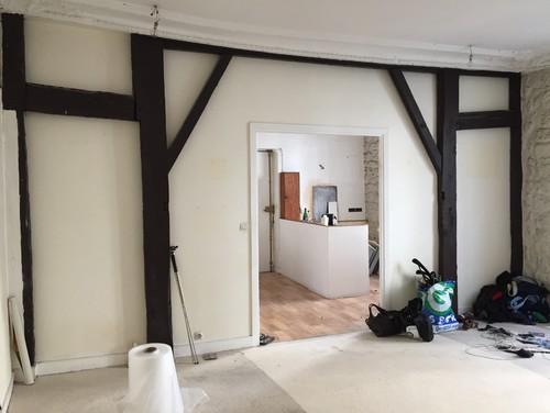 Transformation d 39 un studio de 45m2 en deux pi ces paris for Appartement 45m2 design