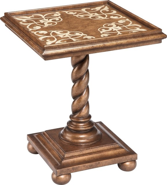 Stein World Corvallis Accent Table, Warm Brown 13196.