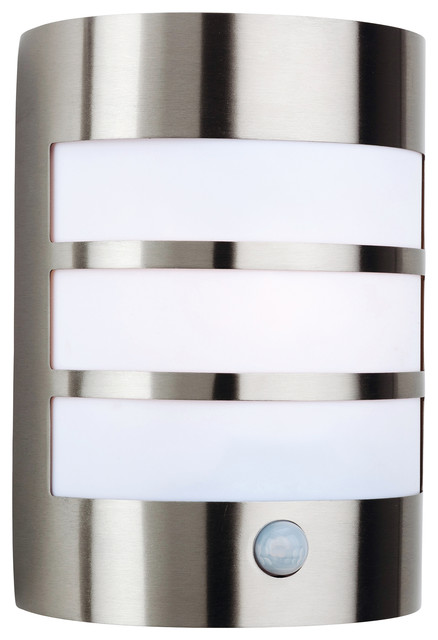 Contemporary Stainless Steel Outdoor Wall Light With PIR