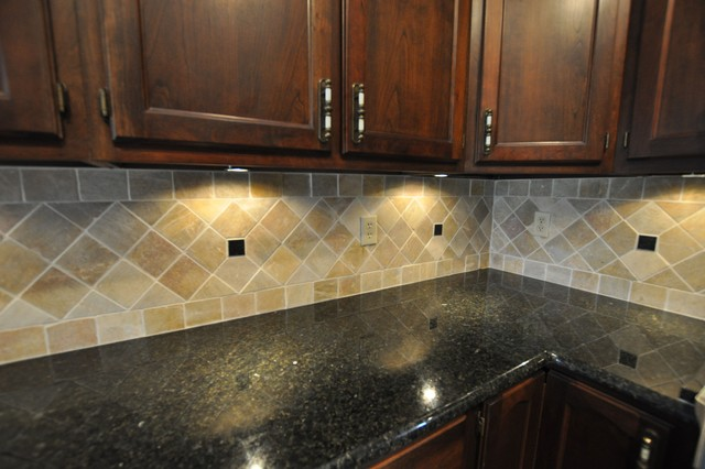 Granite Countertops And Tile Backsplash Ideas Eclectic - Granite tile backsplash ideas