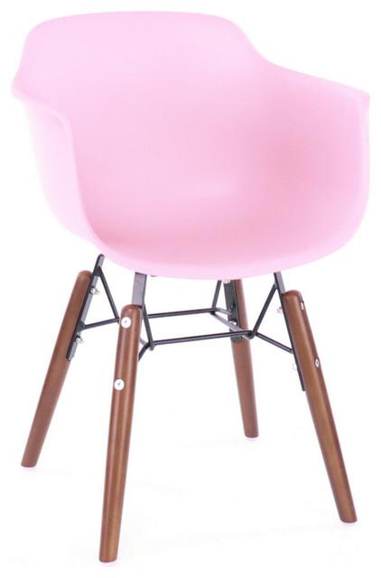 Incredible Grazia Mid Century Childrens Chair Original Design Set Of 4 Baby Pink Dailytribune Chair Design For Home Dailytribuneorg
