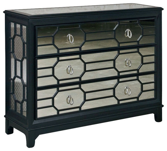Hammary Hidden Treasures Mirrored Hall Chest  Traditional Accent Chests And Cabinets