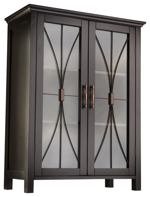 Delaney Floor Cabinet with 2 Doors transitional-bathroom-cabinets-and ...
