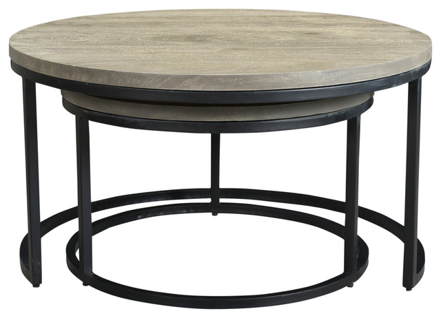 Superieur Drey Round Nesting Coffee Tables, Set Of 2