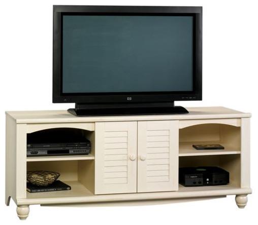 Sauder Harbor View Entertainment Credenza Antiqued White - Asian - Entertainment Centers And Tv ...