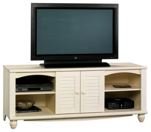 Sauder Harbor View Entertainment Credenza Antiqued White - Traditional - Entertainment Centers ...