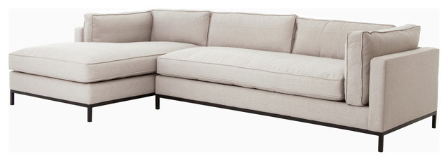 Atelier grammercy 2 piece sectional with left arm chaise for Atelier st jean chaise bercante