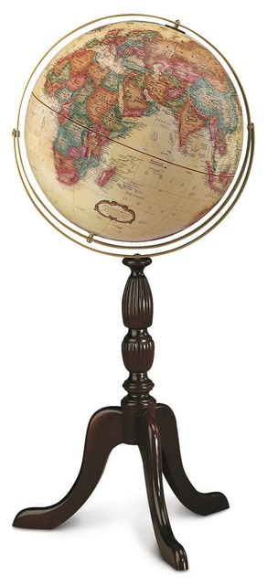 Cambridge antique finish 16 globe with fluted pedestal for Fluted pedestal base