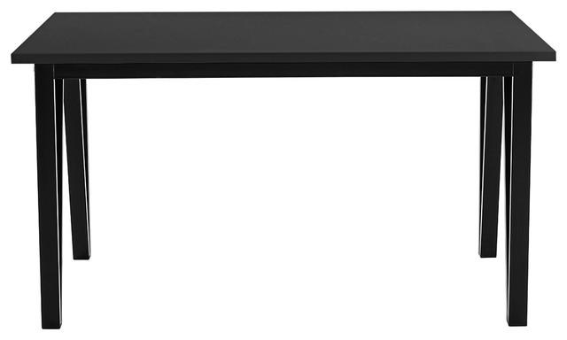 Modern Kitchen Dining Room Table Mold Resistant Metal Frame, Black.