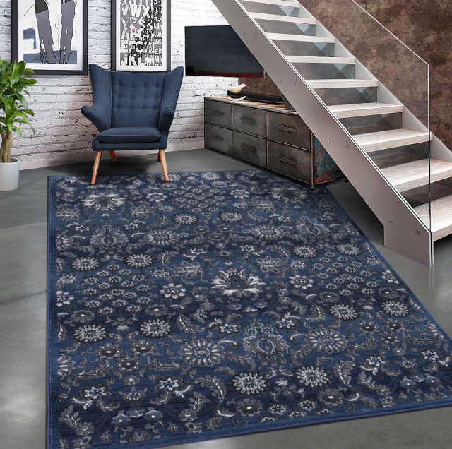 Modern Accent Rug In With Fl Design