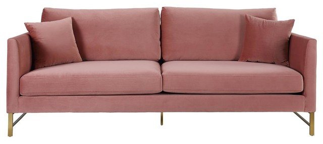 Massi Rose Velvet Sofa, Rose.