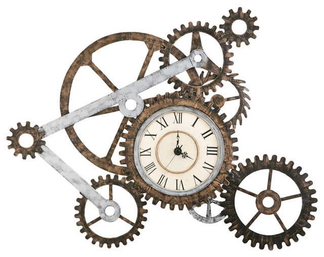 Fresh Industrial Wall Clocks by SEI