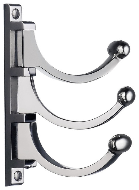 Smedbo Bk1042 Beslagsboden 5 Classic Triple Swing Wall Hook Polished Chrome Contemporary Wall Hooks By Knobdeco