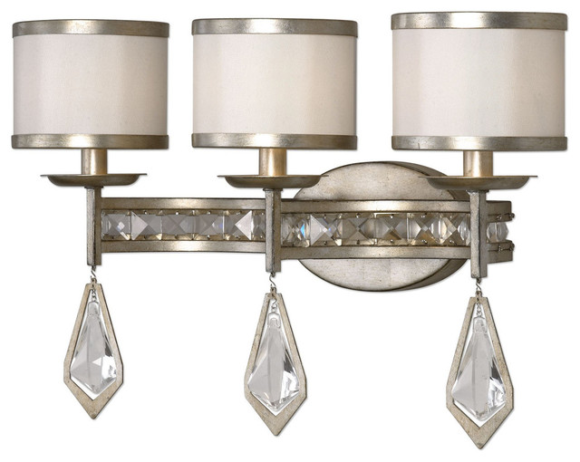 Uttermost Tamworth Modern 3 Light Vanity Strip Bathroom Vanity Lighting B