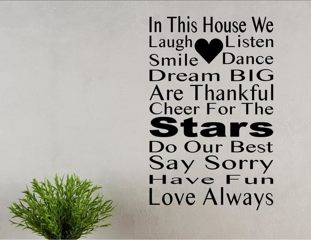In This House We...Cheer For The Stars, Wall Decor Stickers Contemporary