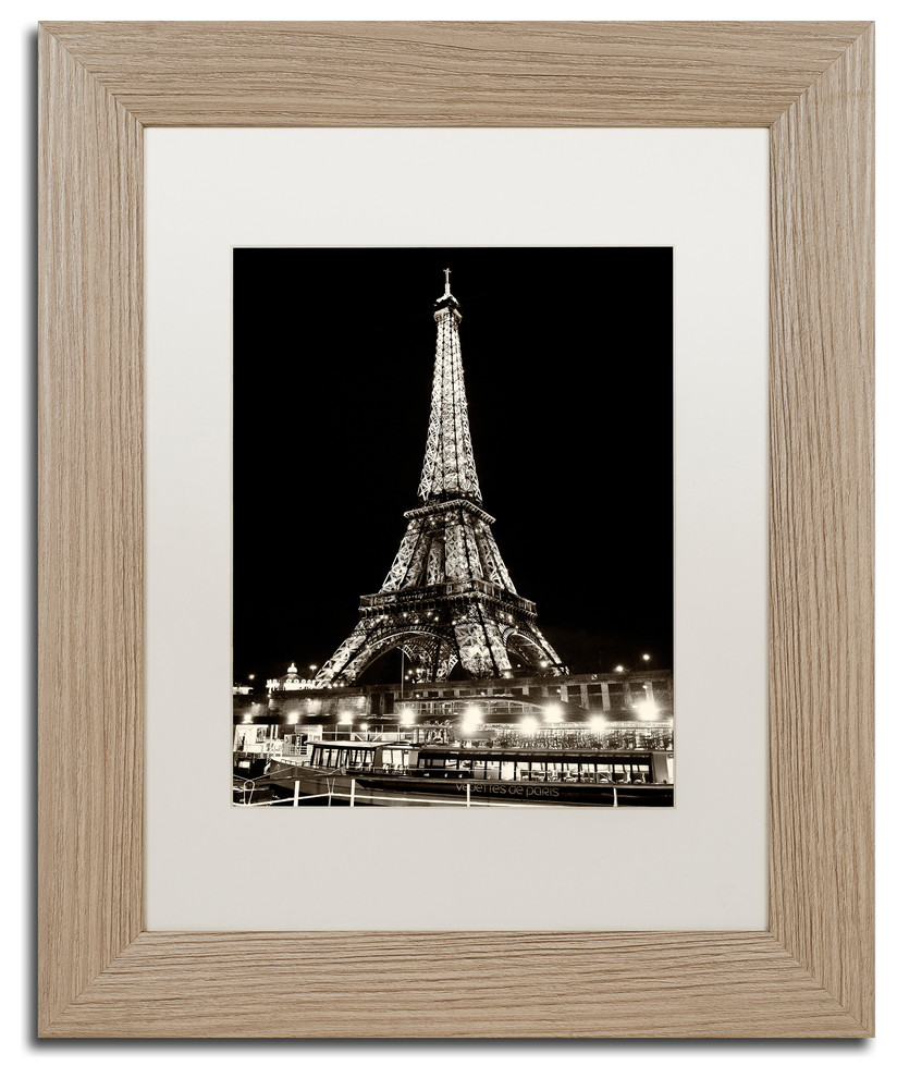 Philippe Hugonnard Eiffel Tower Paris Matted Framed Art Traditional Prints And Posters By Trademark Global