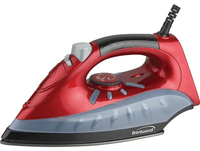 Brentwood Non-Stick Steam-Dry, Spray Iron, Red.