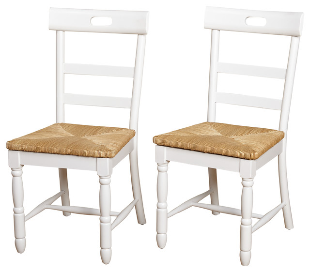 Briana Dining Chair, Set Of 2, White Farmhouse Dining Chairs