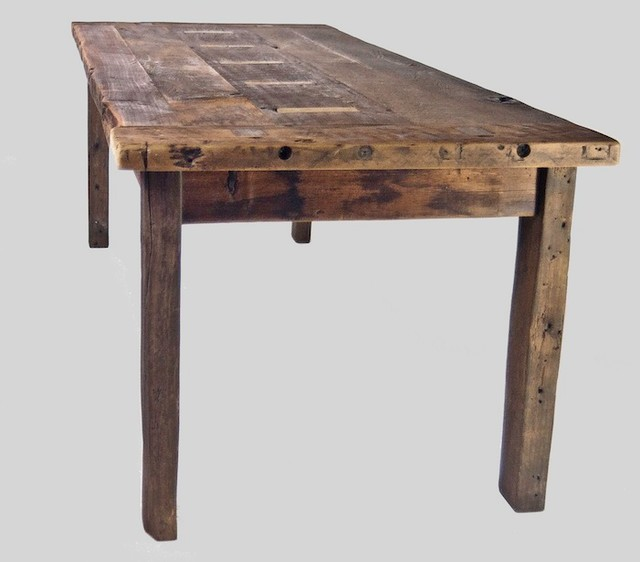 Reclaimed Primitive Farm Table Rustic Dining Tables  : rustic dining tables from www.houzz.com size 640 x 562 jpeg 44kB