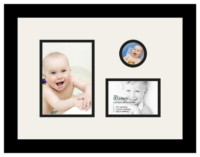 Arttoframes Collage Photo Frame With 3 Openings Contemporary