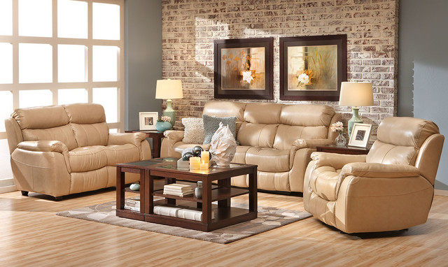 Alpha Leather Sofa Group Living Room