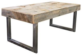 Reclaimed Wood Coffee Table - Rustic - Coffee Tables - by JW Atlas Wood Co.