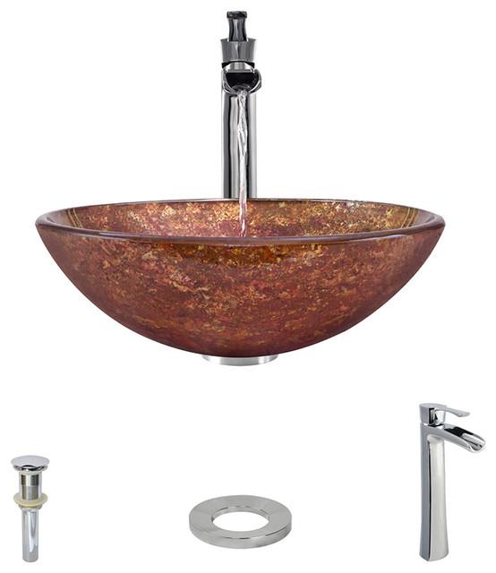Vessel Sink, Chrome, Vessel Faucet.