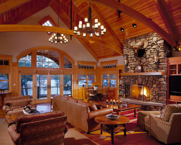 Elegant Living Room Photo In Portland Maine