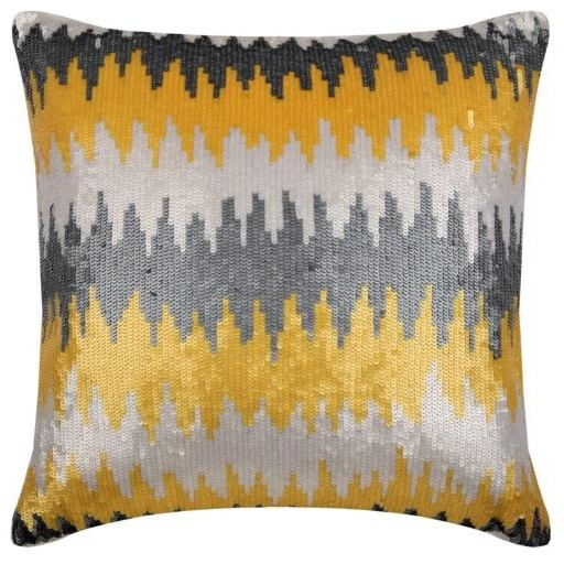 Throw Pillow Cover Ombre Sequins Silk