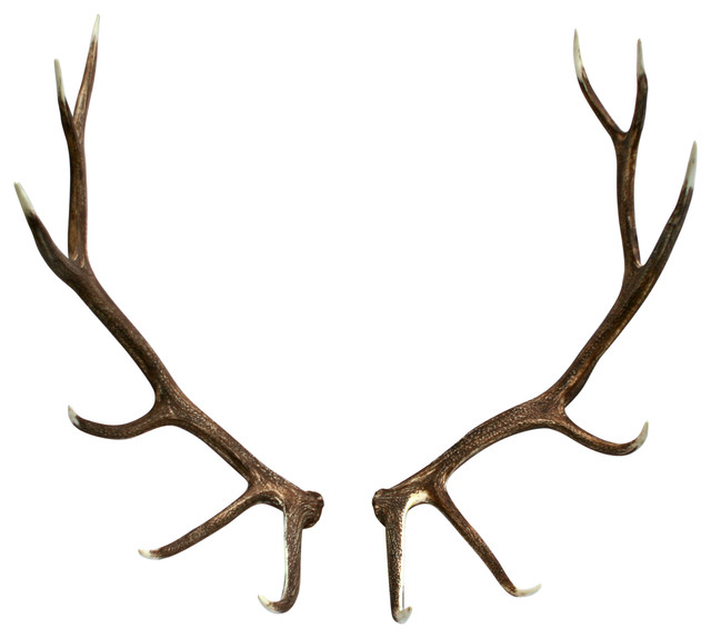 Faux Elk Antler Set Rustic Wall Decor