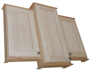 Asheville Triple Series On-The-Wall Bath Cabinet, Unfinished - Farmhouse - Medicine Cabinets ...