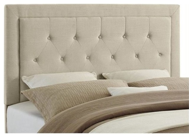 Upholstered Tufted Saddle Bed Queen