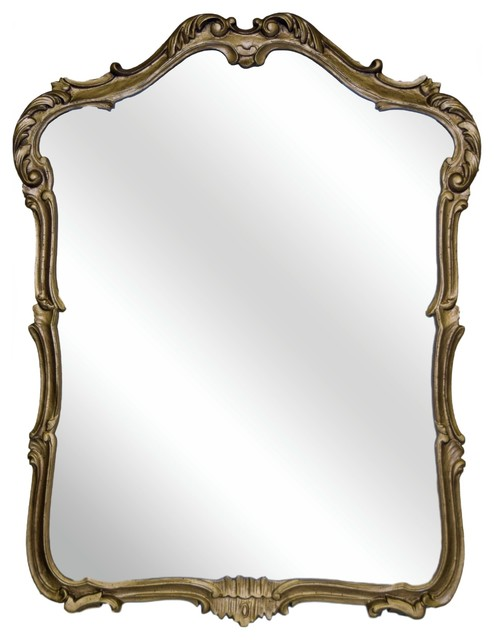 Phillipe Mirror, Antique Gold.