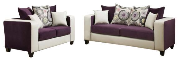 Flash Furniture Rs-4120-05ls-Set-Gg Purple Velvet Living Set.