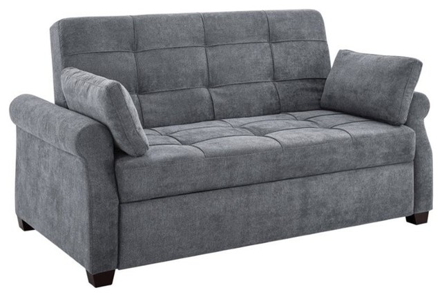 Serta Henley Queen Convertible Sofa In Gray