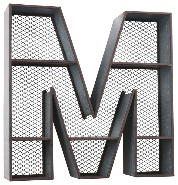 Galvanized Letters For Sale Wilco Home Inc Galvanized Tin Letter Wall Shelf  View In Your