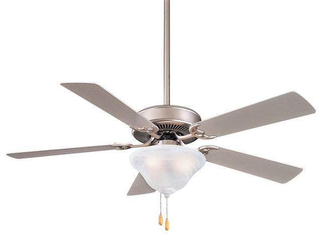 Minka-Aire Contractor Ceiling Fan, Brushed Steel.