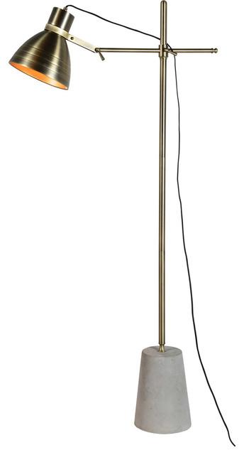 Harrow 1-Light Floor Lamps, Antique Brass.