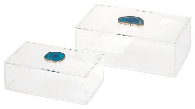 Agate Acrylic Box, 2-Piece Set