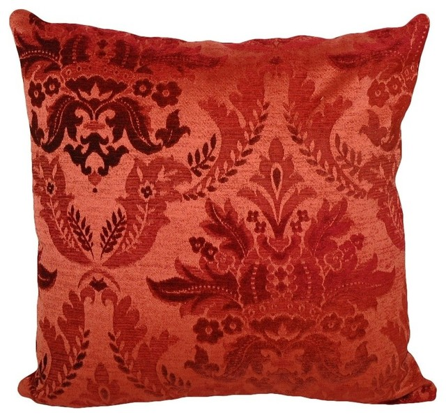 Goose Down Throw Pillows : Bordeaux Square Throw Pillow, 16x16 - Contemporary - Decorative Pillows - by Peter Taube Home
