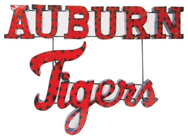 Auburn Tigers Recycled Wall Decor - Rustic - Metal Wall Art - by LRT ...