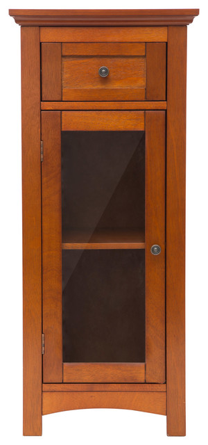 Wood Storage Bathroom Cabinet - Craftsman - Bathroom Cabinets And Shelves - by Glitzhome