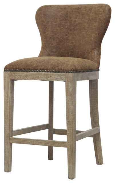 Dorsey Counter Stool, Nubuck Chocolate
