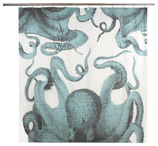 Pulpo Octopus Shower Curtain