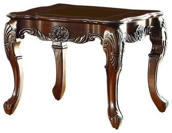 Logan Side Table ~ Homelegance logan end table in warm cherry victorian